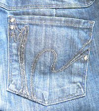 Citizens of Humanity Jeans Kelly Low Waist Stretch Crops Dark Wash 29  X 26.50