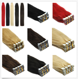 """30-100G Remy Tape in Real Human Hair Extensions Russian 16""""-24"""" Ombre Thick"""