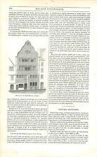 Maison Natale Ludwig van Beethoven à Bonn au bord du Rhin Allemagne GRAVURE 1842