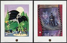 BATMAN LITHOGRAPH SET - 1989 - JOKER, CATWOMAN, PENGUIN, BATMOBILE - NM/M