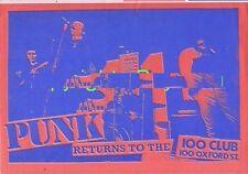 Buzzcocks Alternative TV Subway Sect 100 Club Punk Flyer