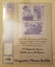 New Pack Of Magnetic Photo Refills 15 Magnetic Sheets Holds up to 90 photos