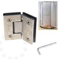 Glass Door Hinge For Inset Doors Bathroom Shower Polished Chrome Plated 135º