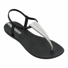 Ipanema Class Sandal Chrome Black Womans Toe Post Made In Brazil Sandal Shoe