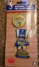Golden State Warriors 2016 NBA Finals 4 Collectors Pins Set Championship