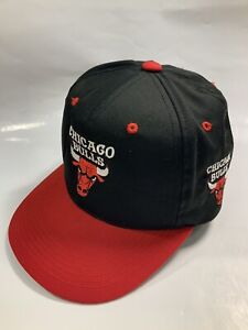 Vintage 90's Chicago Bulls SnapBack Hat Blockhead NBA G-Cap YOUTH
