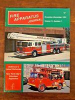 Fire Apparatus Journal Volume 11, Number 6, November-December 1994