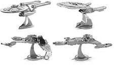 Gift Set of 4 Metal Earth Model Kit Star Trek 1701 1701-D, Bird of Prey, Vor'cha