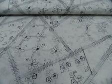 tela de vestido algodón con bordado aprox. 140cm Ancho Multicolor