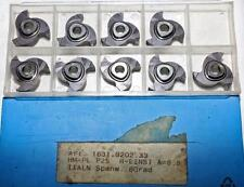 9 INDEXABLE INSERTS hm-pl P25, r-einst A=6.5, TiAlN spanw. 8 Degree