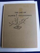 THE ART OF FLOWER ARRANGEMENT BOOK BY TATSUO ISHIMOTO VINTAGE 1954 ILLUSTRATED