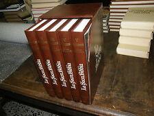 LA SACRA BIBBIA - 5 VOLUMI - A CURA DELLA CEI - EDITRICE VELAR