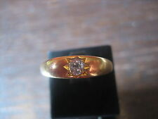 Brilliant Bague 0,20 ct solitaire altschliff 22 CT Or