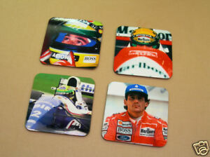 Ayrton Senna F1 Formula One Legend Drinks Coaster Set