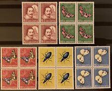 Série PRO JUVENTUTE 1956 : Blocs de 4 MNH** , Mi 632-636