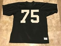 Howie Long #75 Oakland Raiders NFL VTG 80s Sewn Sand Knit Jersey Adult Size XL