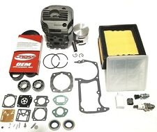 Cylinder kit for Husqvarna K760 Overhaul + OEM Gasket Set + Air Filter + Belt