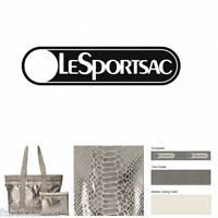LeSportsac Magnetic Snake Medium Travel Tote & Cosmetic Bag NWT Free Ship