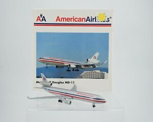 Vintage Herpa American Airlines McDonnell Douglas MD-11 1:500 Airplane 503389