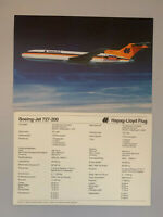 Ak Passagierflugzeuge, Hapag Lloyd Flug, Boeing 727-200 Setcard neu