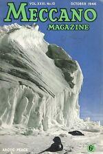 1946 OCTOBER D33581  Meccano Magazine Cover Picture  ARCTIC PEACE