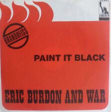 "7"" CV ROLLING STONES 1971 ! ERIC BURDON & WAR : Paint It Black /VG+?"