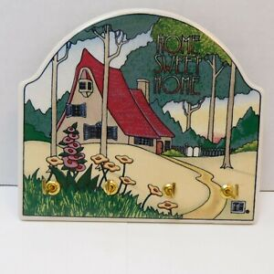 Mary Engelbreit Home Sweet Home Wall Key Holder Rack Ceramic Tile Arts Crafts