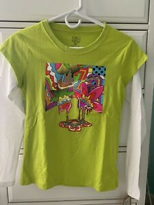 NEW - NIKE GIRLS LONG SLEEVE LIGHT GREEN  Cactus Color Shirt Size: Large 12/13