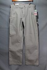 NEW Men's Craftsman Carpenter Pants Water, Oil Resistant Grey 34 x 30