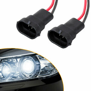 2x HB3 9005 9006 Wiring Harness Socket Headlight Fog Lamp Plug Connector PigTail