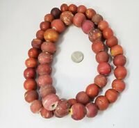 Antique Trade Beads-Cornaline d'Aleppo-Venetian Yellow White Heart Red Beads-wow