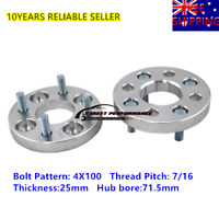 2PCS 25mm Wheel Spacers Adapter 4X100 FOR HOLDEN Gemini Pick Up AU FREE SHIPPING
