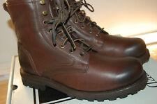 NIB FRYE Men's Warren Combat Shearling Lace Up Boots Leather 8.5 M Brown $478
