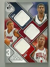 2009/10 SP Game Used Basketball 3 Star Swatches Mayo-Beasley-Rose # 259/299