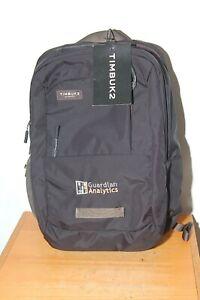Timbuk2 Parkside Laptop Backpack Jet Black OS Guardian Analytics Logo