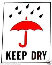 100 3x4 Keep Dry International Safe Handling Shipping Label