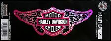 harley davidson butterfly pink motor cycle decal bike emblem tag sticker HD new