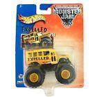 Hot Wheels Monster Jam Truck EXPELLED School Bus Yellow 1/64 Die Cast Scale #11