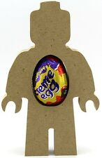 Pack Of 10 - Brick Man Freestanding MDF Easter Creme Egg holder Craft 18mm thick