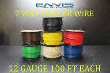 12 GAUGE WIRE ENNIS ELECTRONICS 7 WAY TRAILER LIGHT 100 FT EACH PRIMARY CABLE