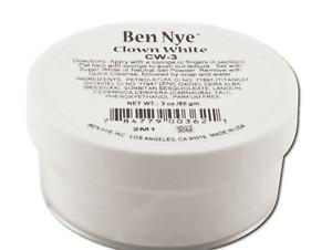 Ben Nye Clown White 3 oz Theatrical Stage Makeup Creme Face Paint 85 GM CW3