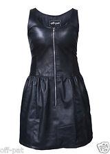 Ladies GENUINE LAMBS LEATHER SEXY BLACK DRESS