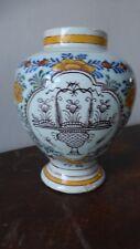 DELFT. Ancien vase faience  XVIIIème. Antique dutch Delft vase
