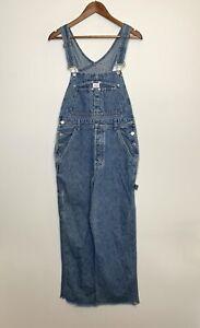VTG Calvin Klein - Blue Denim Carpenter Work Bib Overalls - Size S - M4351
