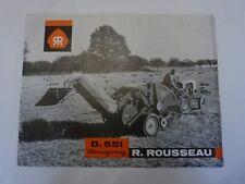 catalogue prospectus agricole : presse botteleuse R ROUSSEAU   D 551 beaugency