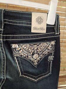MISS ME Jeans Sz 28 Chole BootCut Embellished Bling Back Pockets