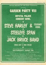 Steve Harley Cockney Rebel Steeleye Span Jack Bruce Band 1975 UK show advert MM