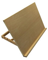 A3 ART & CRAFT WORKSTATION WOODEN DRAWING BOARD ARTIST ADJUSTABLE TABLE EASEL