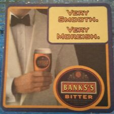 Banks's Bitter Beer Mat Bar Coaster