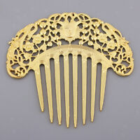 Antique Filigree Hair Pin Clip Barrette Hair Side Comb Hair Jewelry Findings